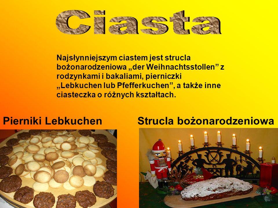 Ciasta Pierniki Lebkuchen Strucla bożonarodzeniowa