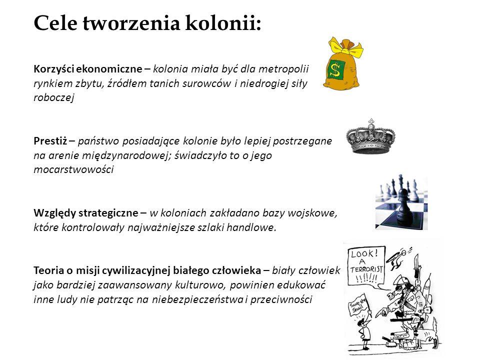 Cele tworzenia kolonii: