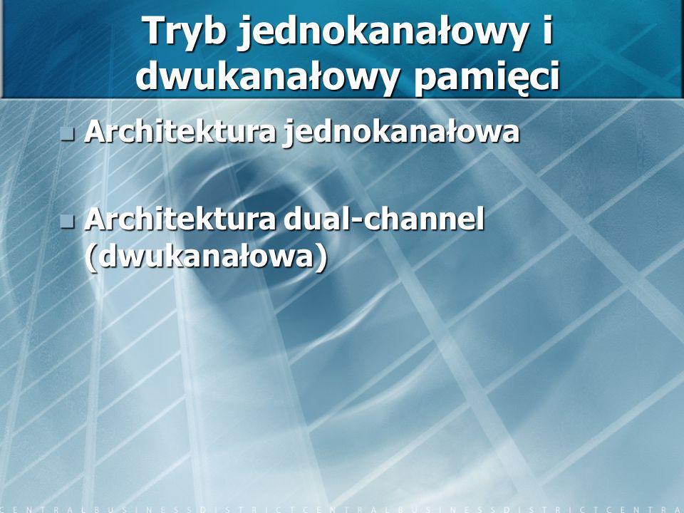 Tryb jednokanałowy i dwukanałowy pamięci