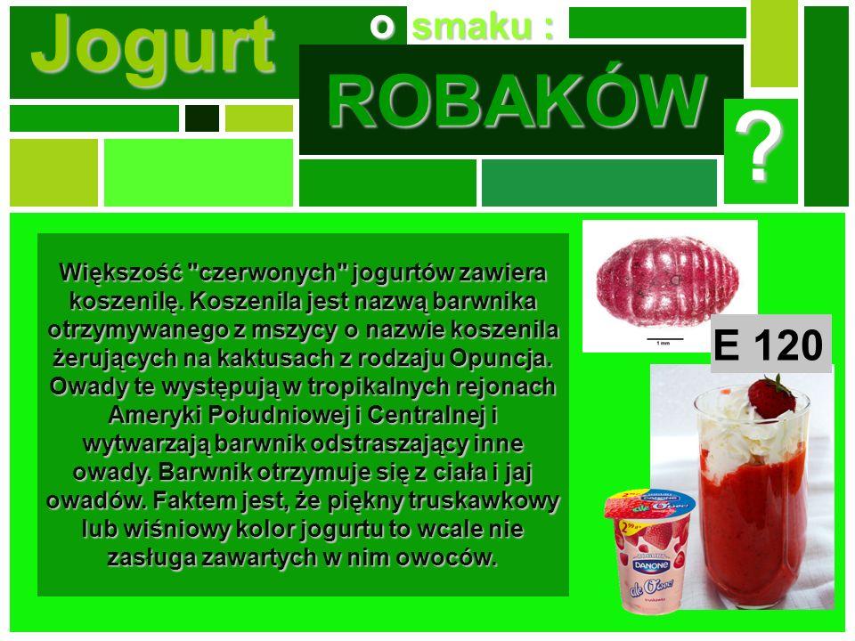 Jogurt ROBAKÓW o E 120 smaku :