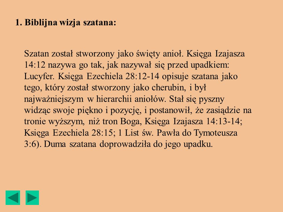 1. Biblijna wizja szatana: