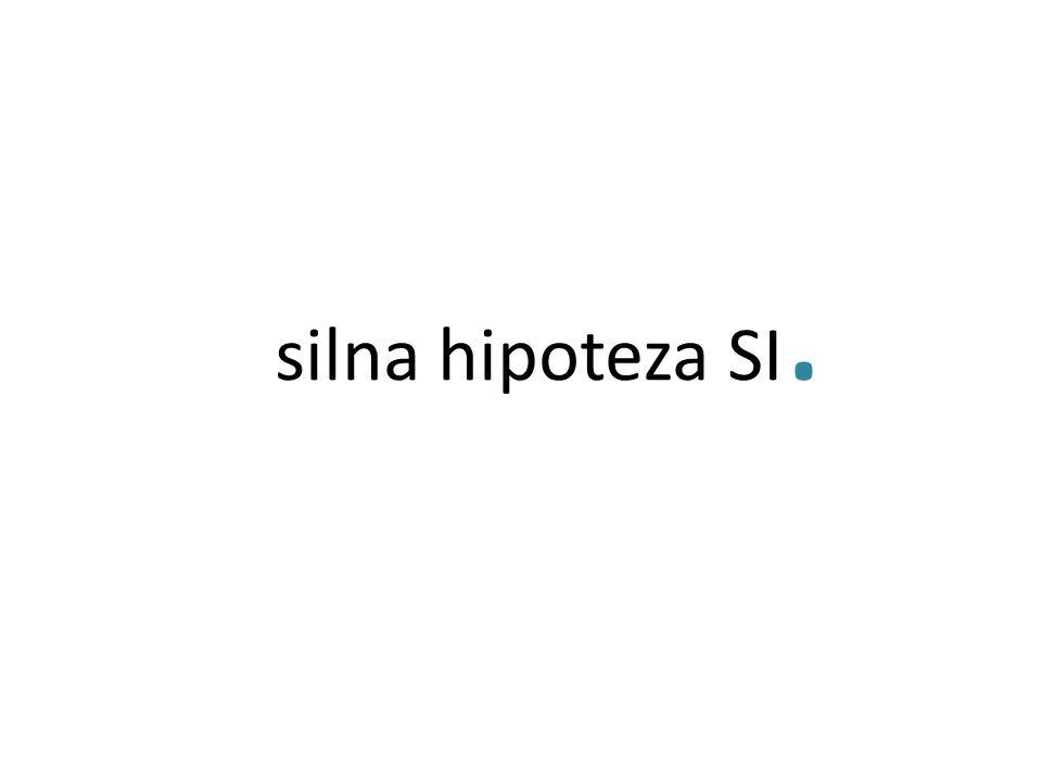 silna hipoteza SI.
