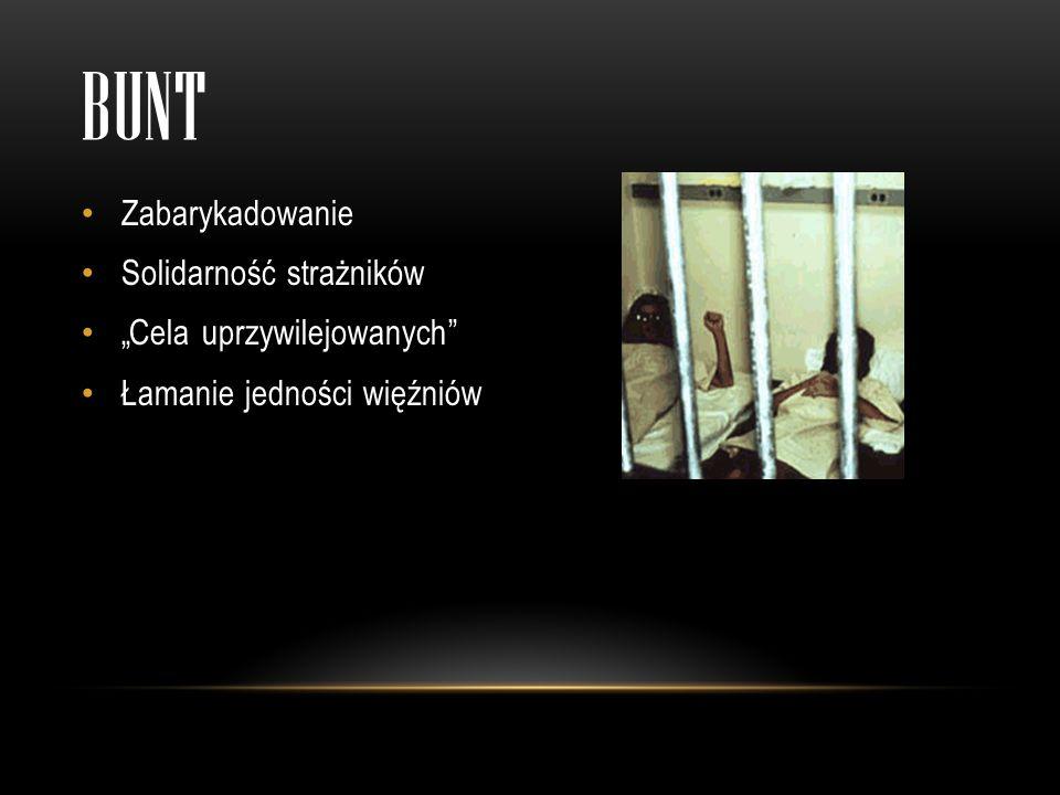 """bunt Zabarykadowanie Solidarność strażników """"Cela uprzywilejowanych"""