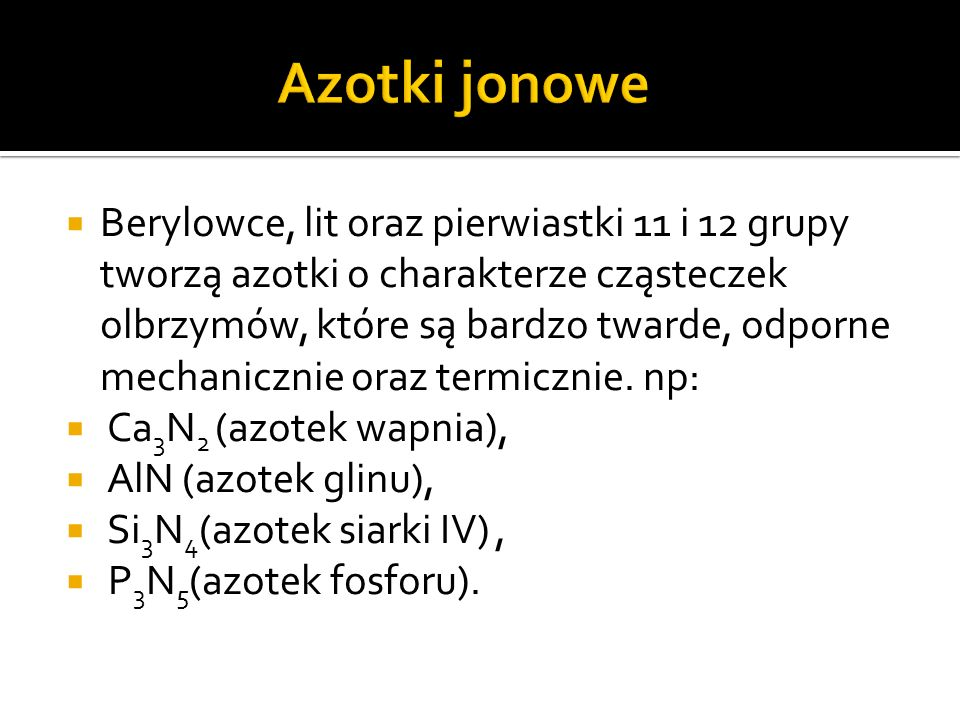 Azotki jonowe