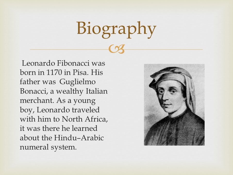a biography of leonardo fibonacci