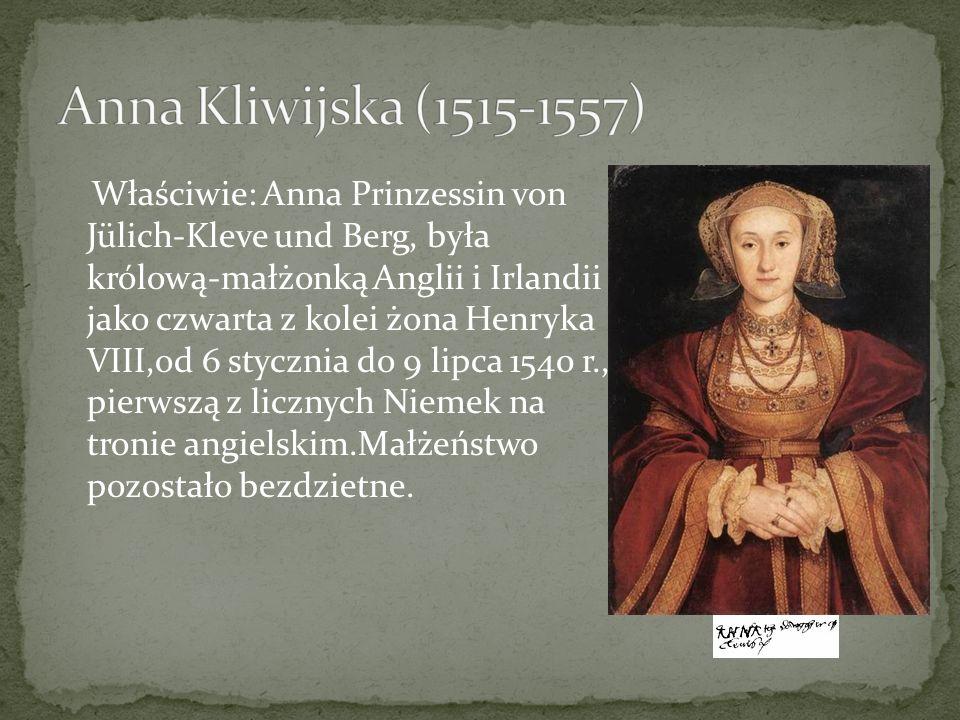 Anna Kliwijska (1515-1557)