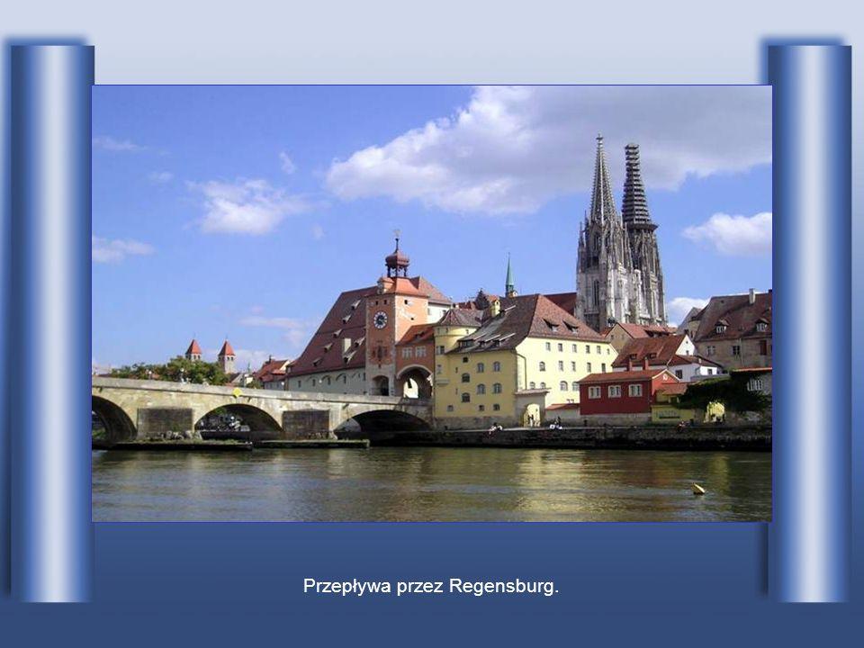 Przepływa przez Regensburg.