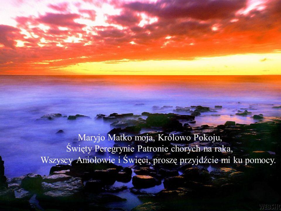 Maryjo Matko moja, Królowo Pokoju,