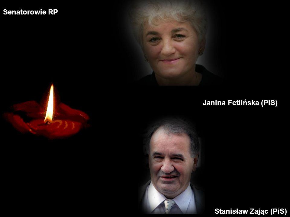 Senatorowie RP Janina Fetlińska (PiS) Stanisław Zając (PiS)