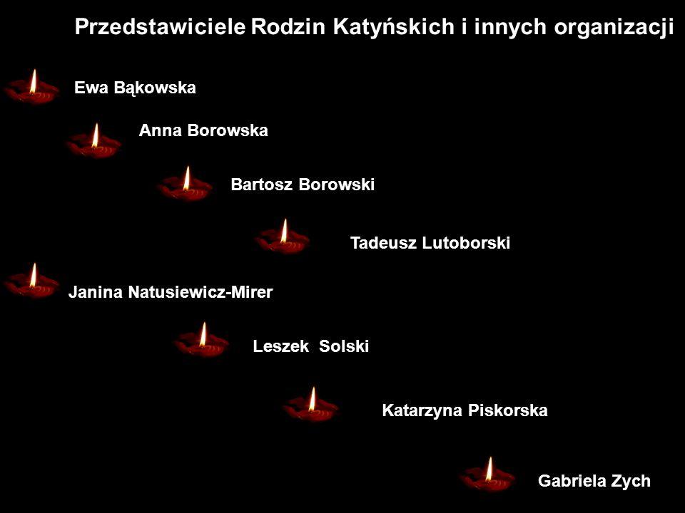 Przedstawiciele Rodzin Katyńskich i innych organizacji