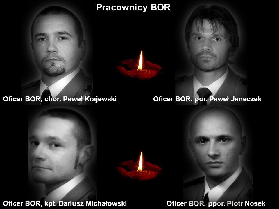 Pracownicy BOR Oficer BOR, chor. Paweł Krajewski