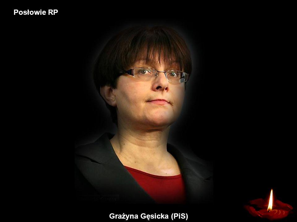 Posłowie RP Grażyna Gęsicka (PiS)