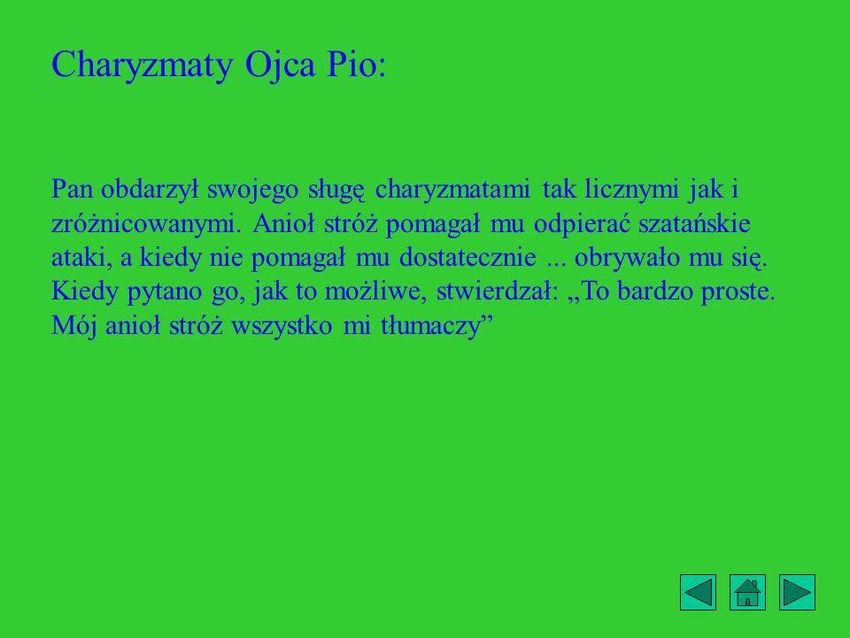 Charyzmaty Ojca Pio: