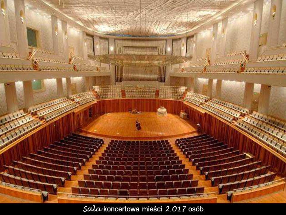 Sala koncertowa mieści 2.017 osób