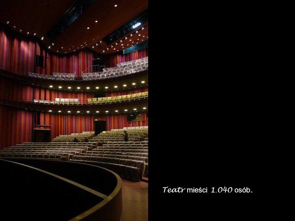 Teatr mieści 1.040 osób.