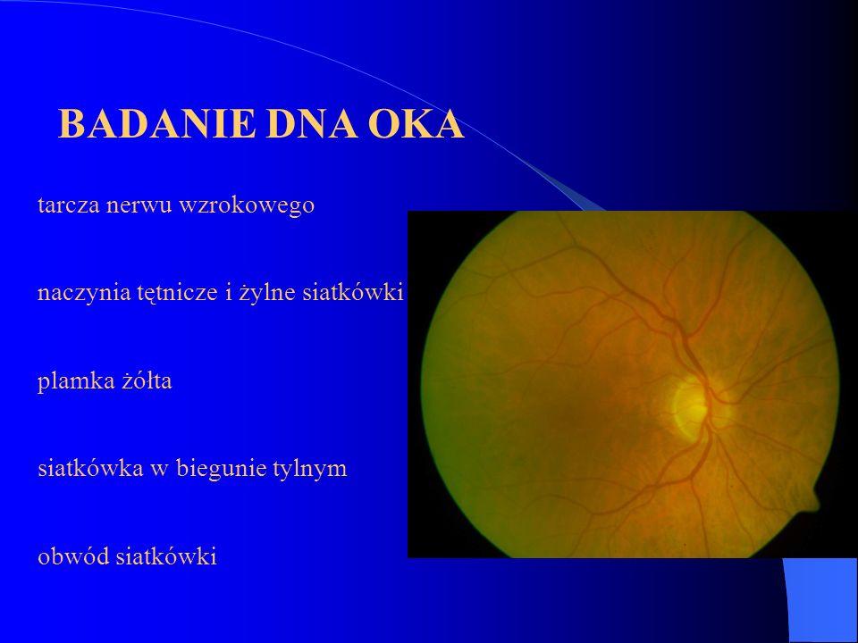 BADANIE DNA OKA tarcza nerwu wzrokowego