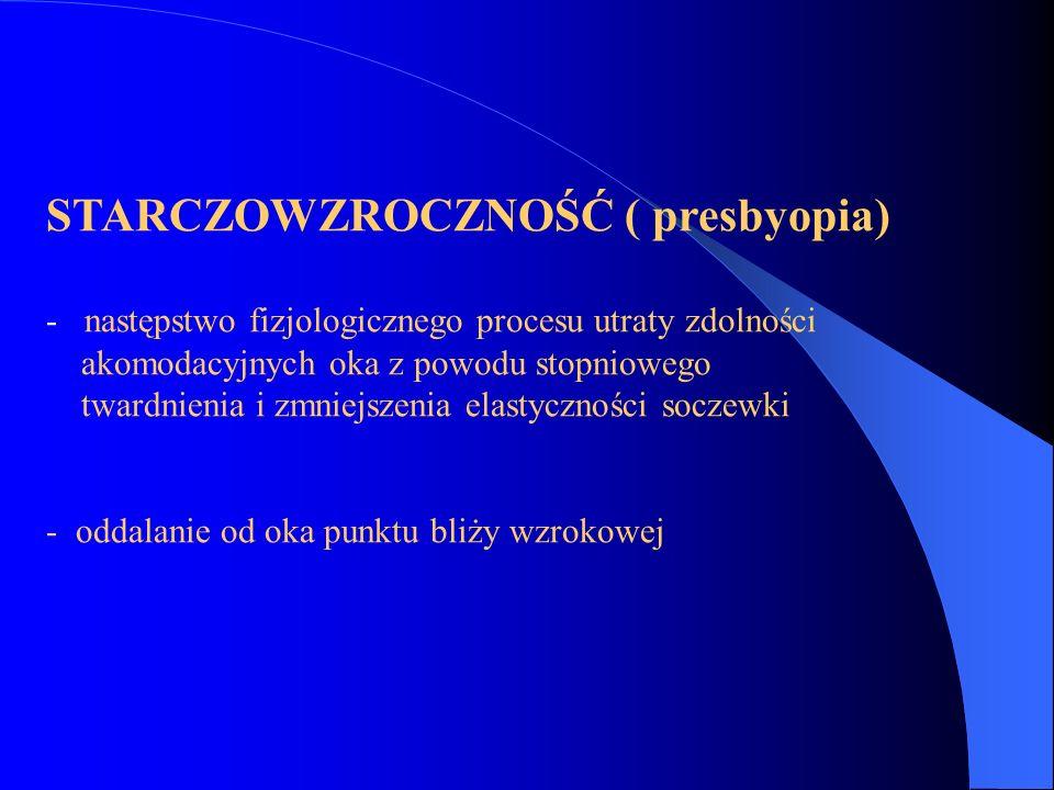 STARCZOWZROCZNOŚĆ ( presbyopia)
