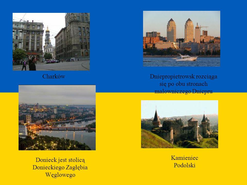 Dniepropietrowsk rozciąga się po obu stronach malowniczego Dniepru