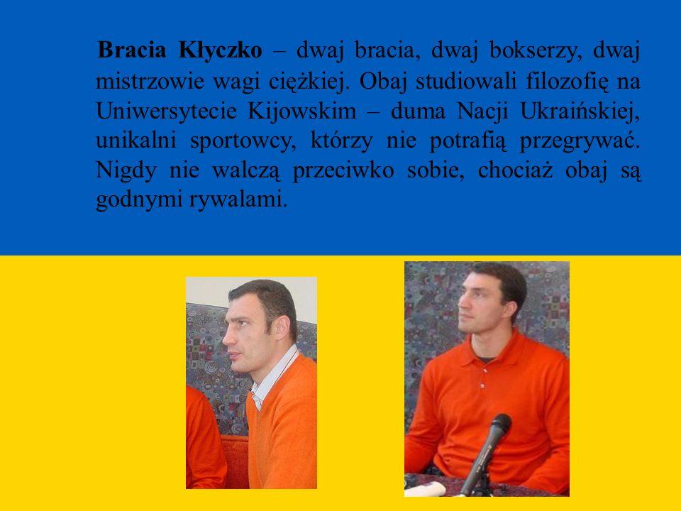 Bracia Kłyczko – dwaj bracia, dwaj bokserzy, dwaj mistrzowie wagi ciężkiej.