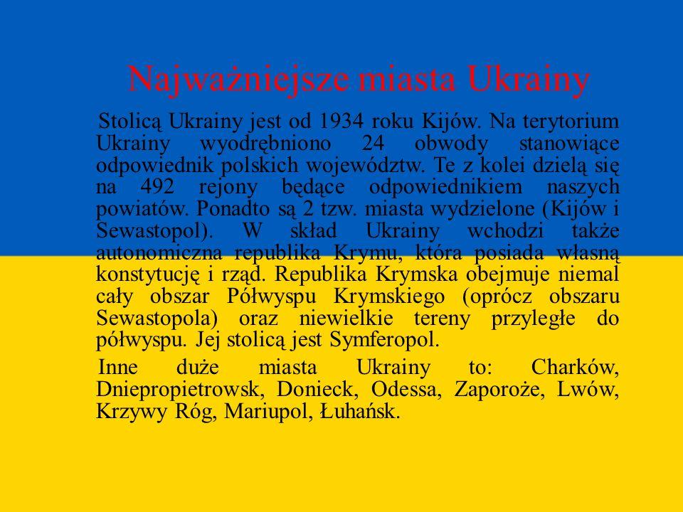 Najważniejsze miasta Ukrainy