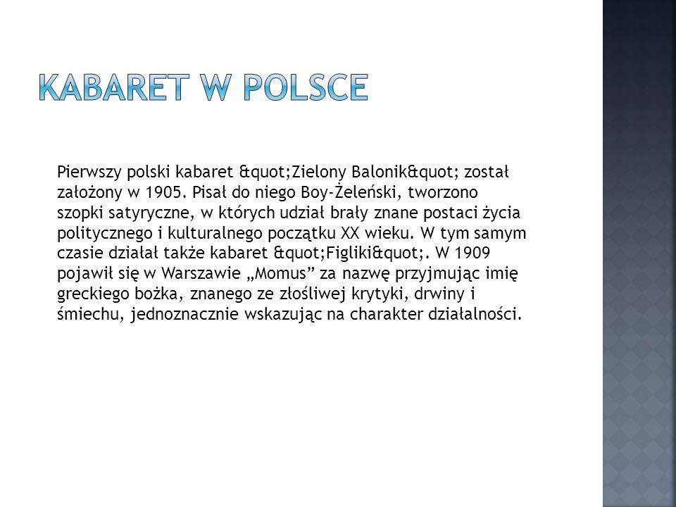Kabaret w Polsce