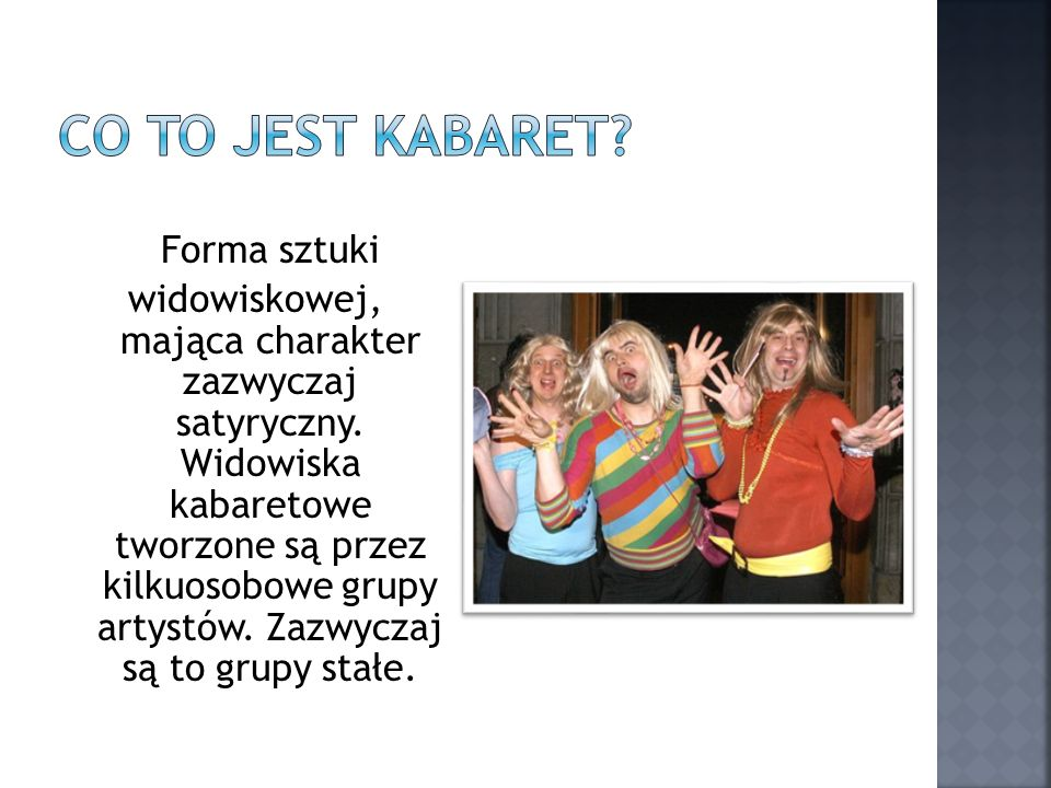 Co to jest kabaret