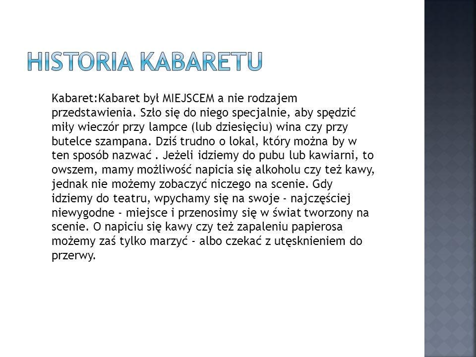 Historia Kabaretu