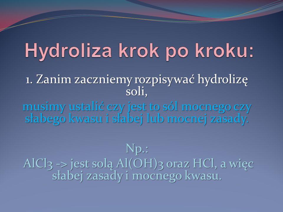 Hydroliza krok po kroku: