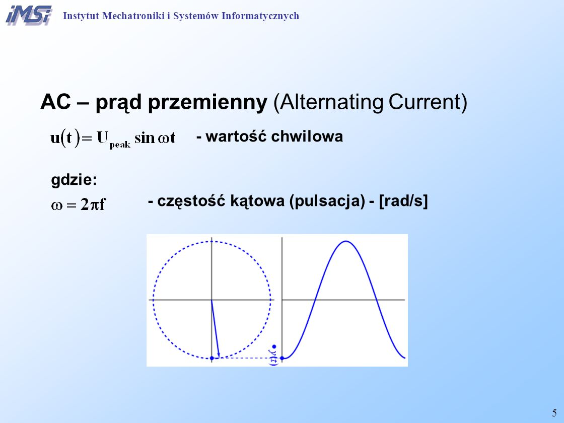 AC – prąd przemienny (Alternating Current)