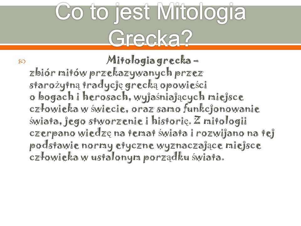 Co to jest Mitologia Grecka