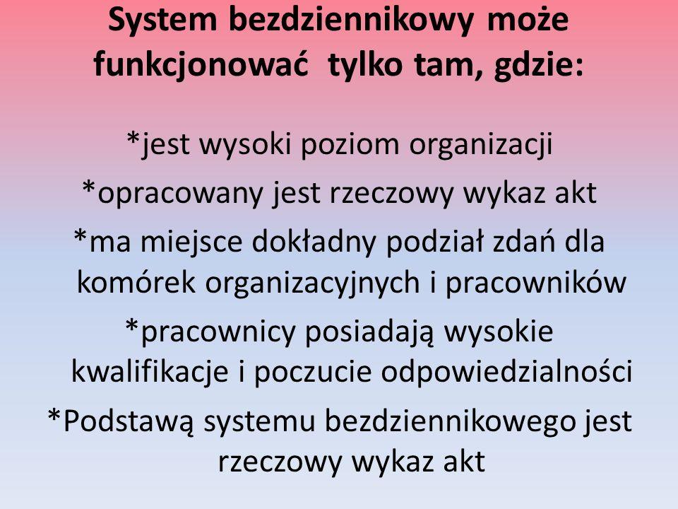 System bezdziennikowy może funkcjonować tylko tam, gdzie: