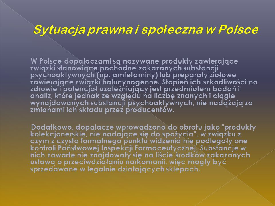 Sytuacja prawna i społeczna w Polsce