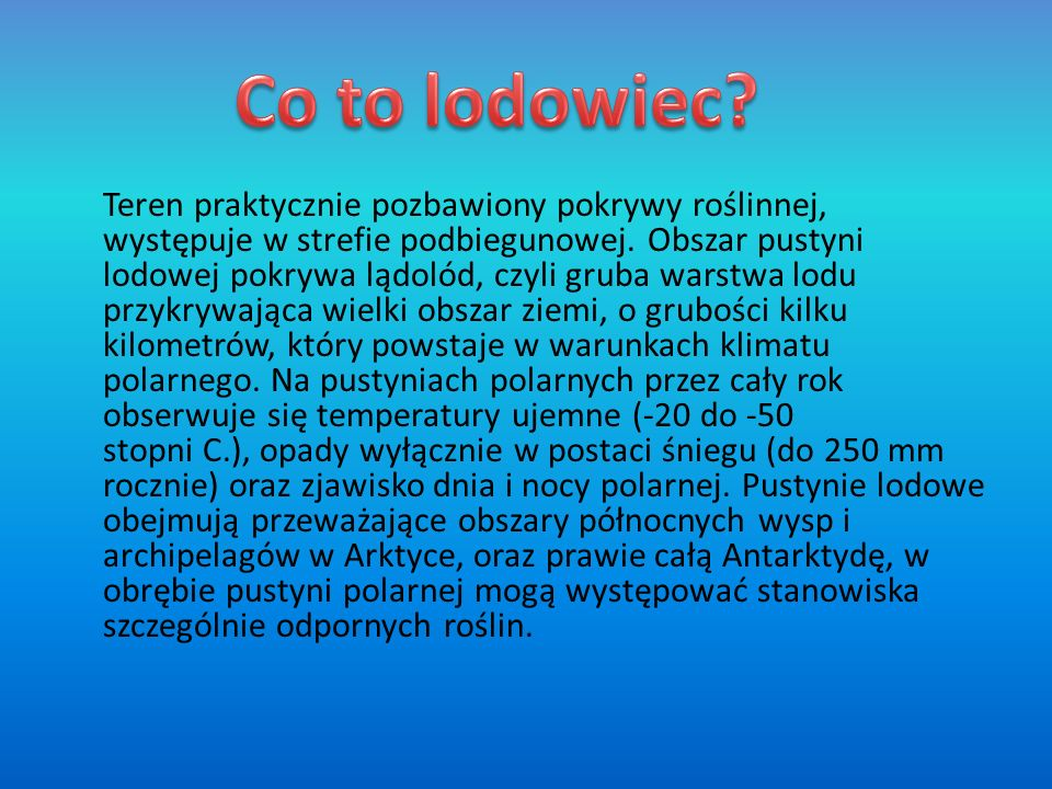 Co to lodowiec