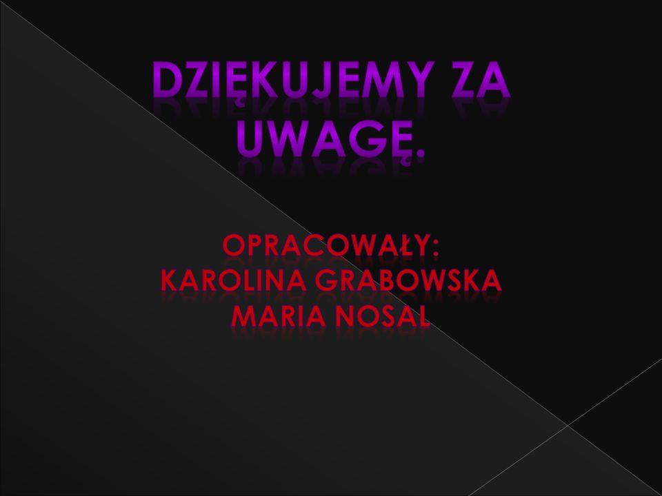 Opracowały: Karolina grabowska MARIA NOSAL