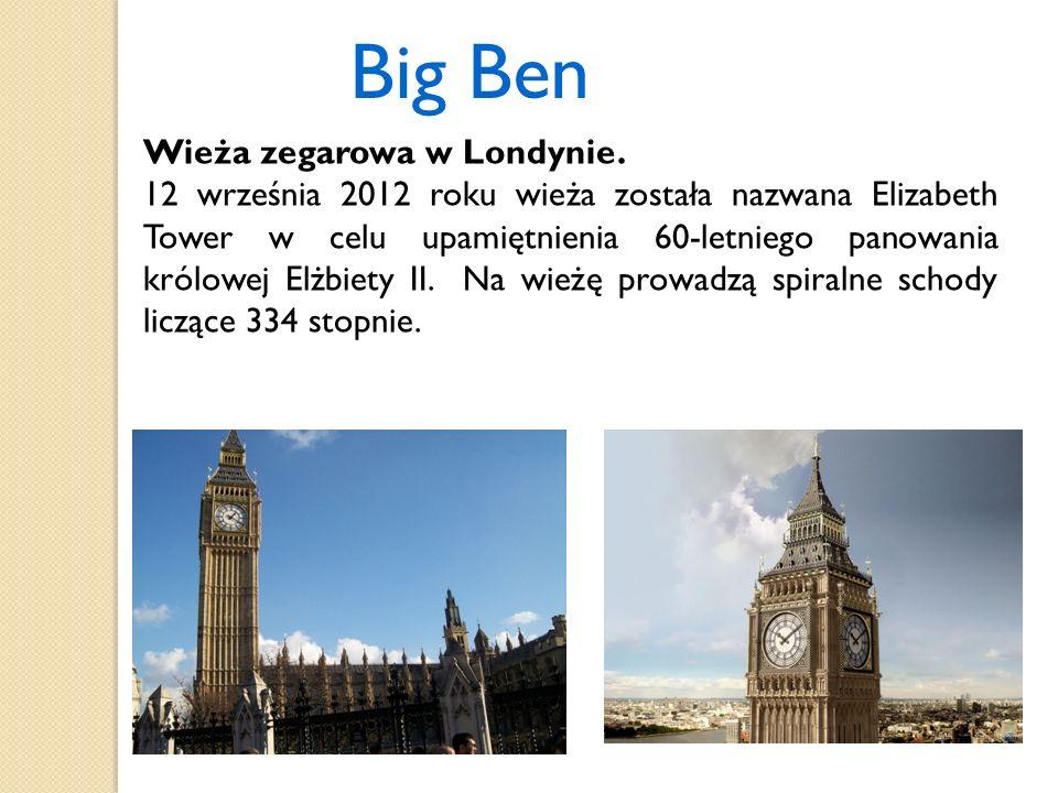 Big Ben Wieża zegarowa w Londynie.
