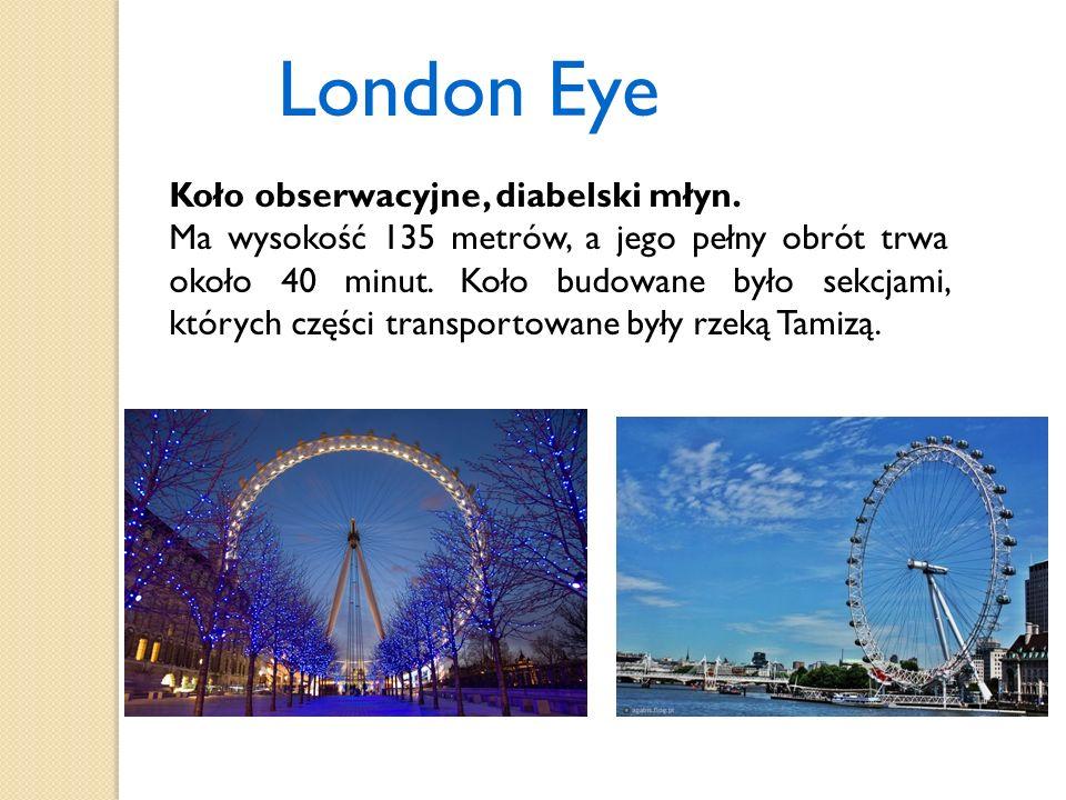 London Eye Koło obserwacyjne, diabelski młyn.
