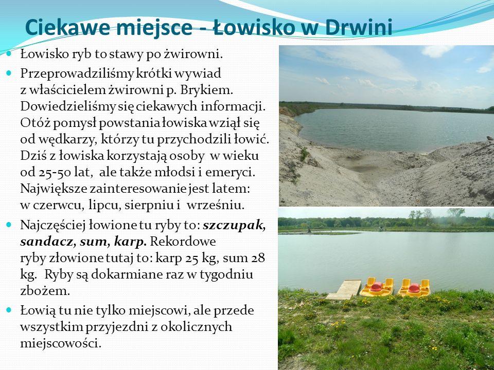 Ciekawe miejsce - Łowisko w Drwini