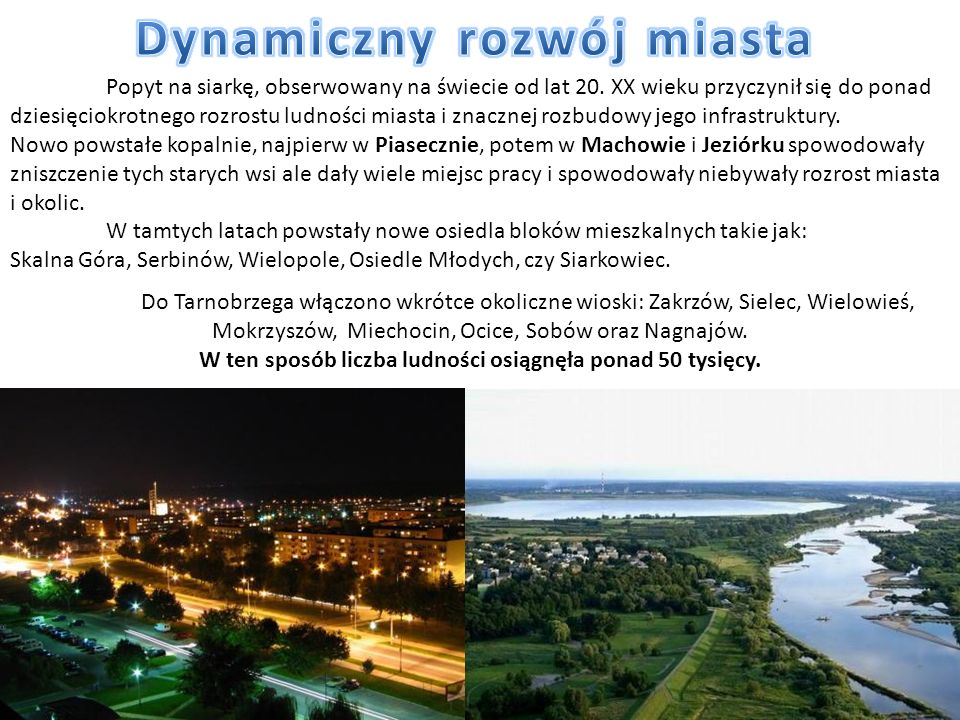 Dynamiczny rozwój miasta