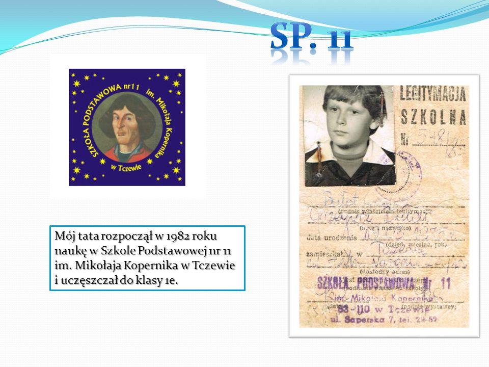 Sp. 11 Mój tata rozpoczął w 1982 roku naukę w Szkole Podstawowej nr 11 im.