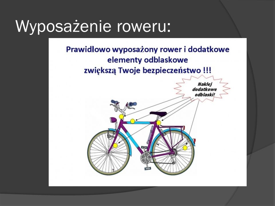 Wyposażenie roweru: