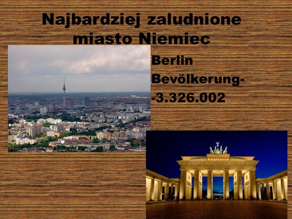 Najbardziej zaludnione miasto Niemiec