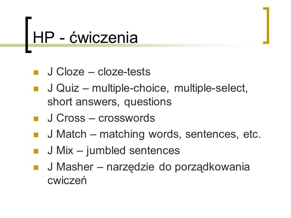 HP - ćwiczenia J Cloze – cloze-tests