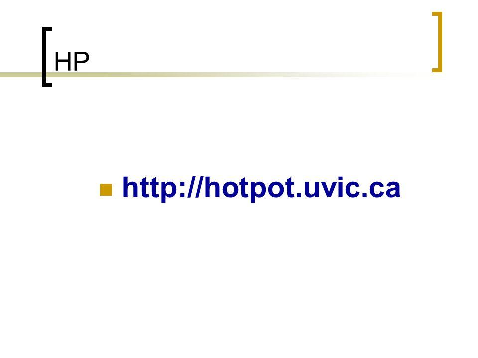 HP http://hotpot.uvic.ca