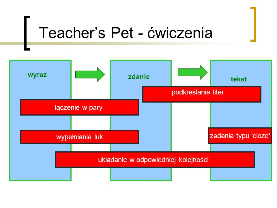 Teacher's Pet - ćwiczenia