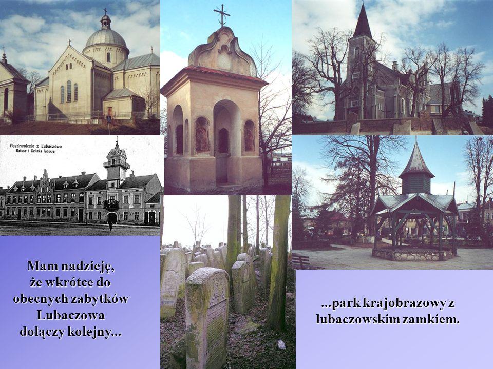 Mam nadzieję, że wkrótce do. obecnych zabytków. Lubaczowa. dołączy kolejny... ...park krajobrazowy z.