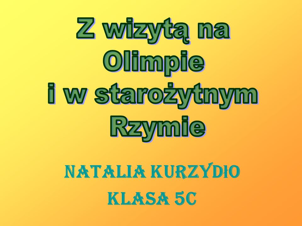 Natalia Kurzydło Klasa 5c