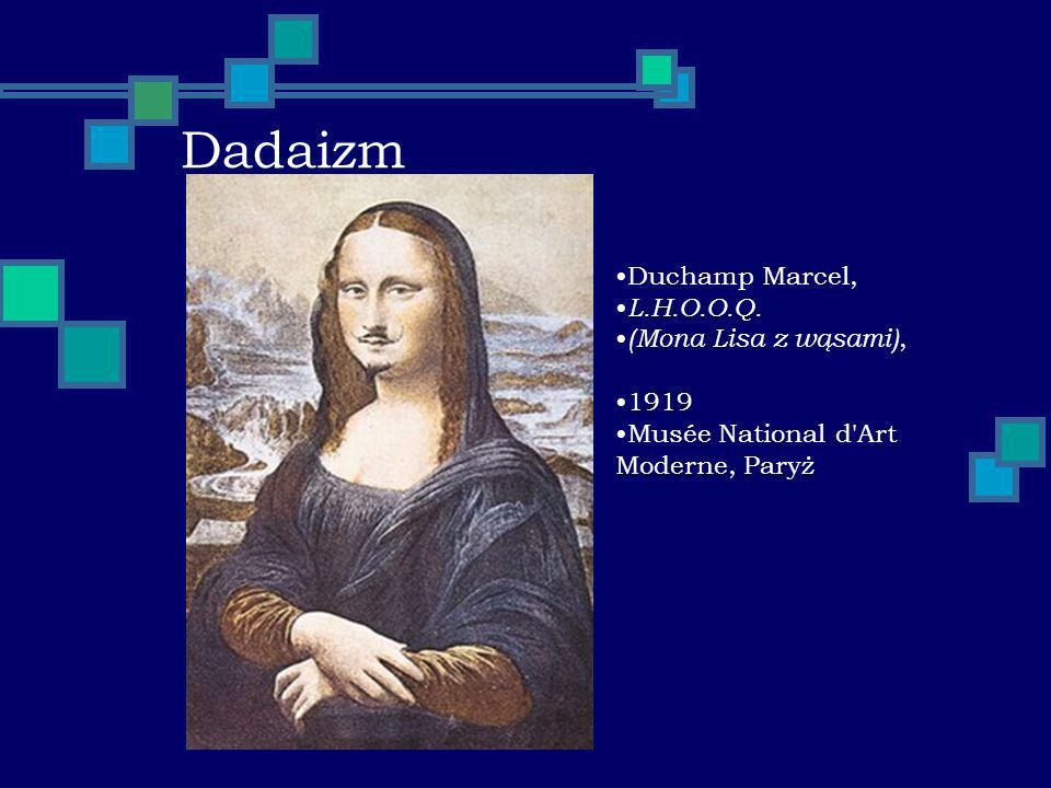 Dadaizm Duchamp Marcel, L.H.O.O.Q. (Mona Lisa z wąsami), 1919