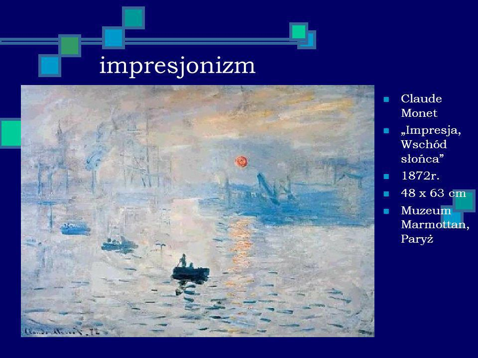 """impresjonizm Claude Monet """"Impresja, Wschód słońca 1872r. 48 x 63 cm"""