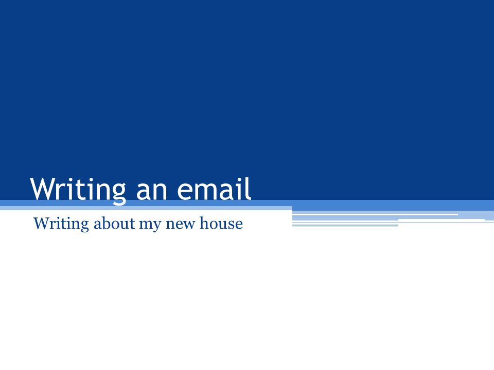 Writing about my new house