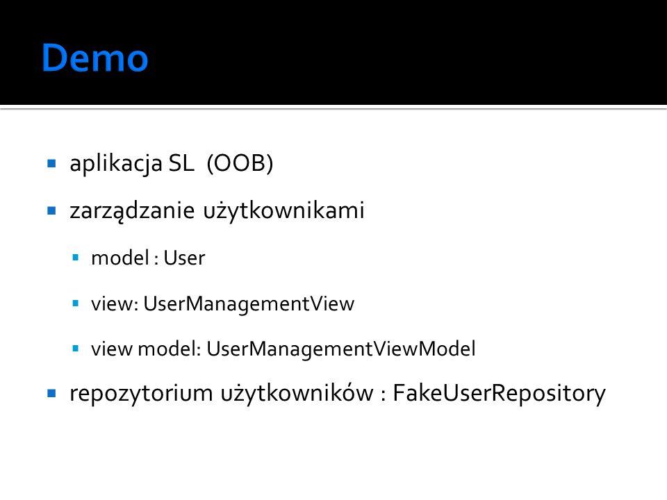 Demo aplikacja SL (OOB) zarządzanie użytkownikami